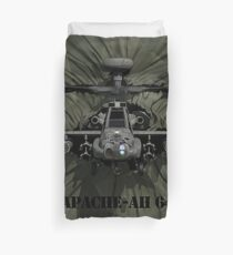 Apache AH-64 Helicopter Duvet Cover