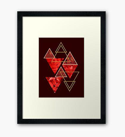 Red Fall #redbubble #decor #buyart Framed Print