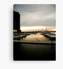 Docklands Sunset Canvas Print