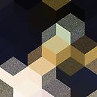 CUBE 1 GOLD & BLACK by EDDESIGNFORFUN
