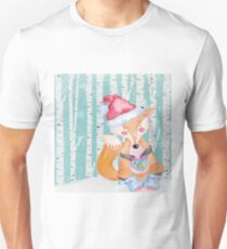 Winter Woodland Friends Fox Forest Animals Illustration T-Shirt