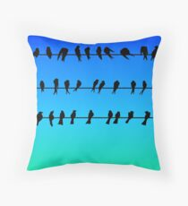 Birds on a Wire No.1 Floor Pillow