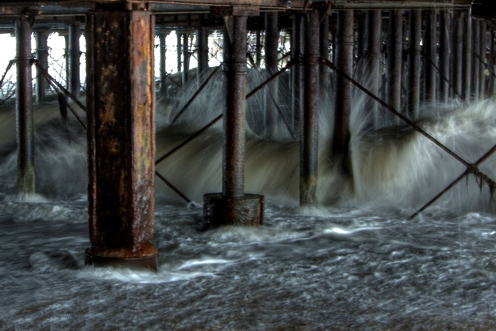 Tide Against the Pier (2 of 3) by Kevin Baker
