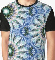 Spiraling Garden Blossoms Graphic T-Shirt