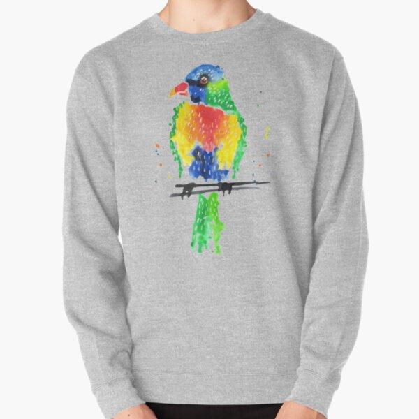 Rainbow Lorikeet Pullover Sweatshirt