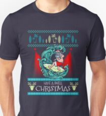 Surfing Ugly Christmas Sweater Shirt Knitted Style Xmas Tee T-Shirt