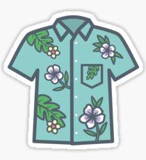 Hawaiian Flower Shirt Aqua Sticker