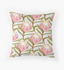 Pastel protea Throw Pillow