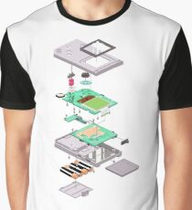 Lowpoly Vector Gameboy DMG Isometric Explosion View  Graphic T-Shirt