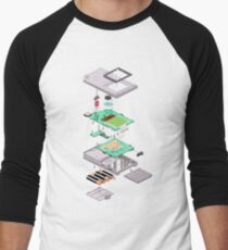 Lowpoly Vector Gameboy DMG Isometric Explosion View  T-Shirt