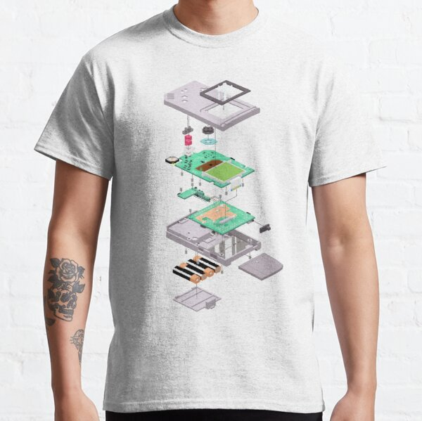 Lowpoly Vector Gameboy DMG Isometric Explosion View  Classic T-Shirt