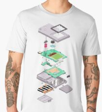 Lowpoly Vector Gameboy DMG Isometric Explosion View  Men's Premium T-Shirt