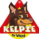Kelpie On Board - Brown and Tan by DoggyGraphics