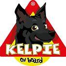 Kelpie On Board - Black by DoggyGraphics