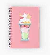 Strawberry Triple Ice Cream Dessert Spiral Notebook