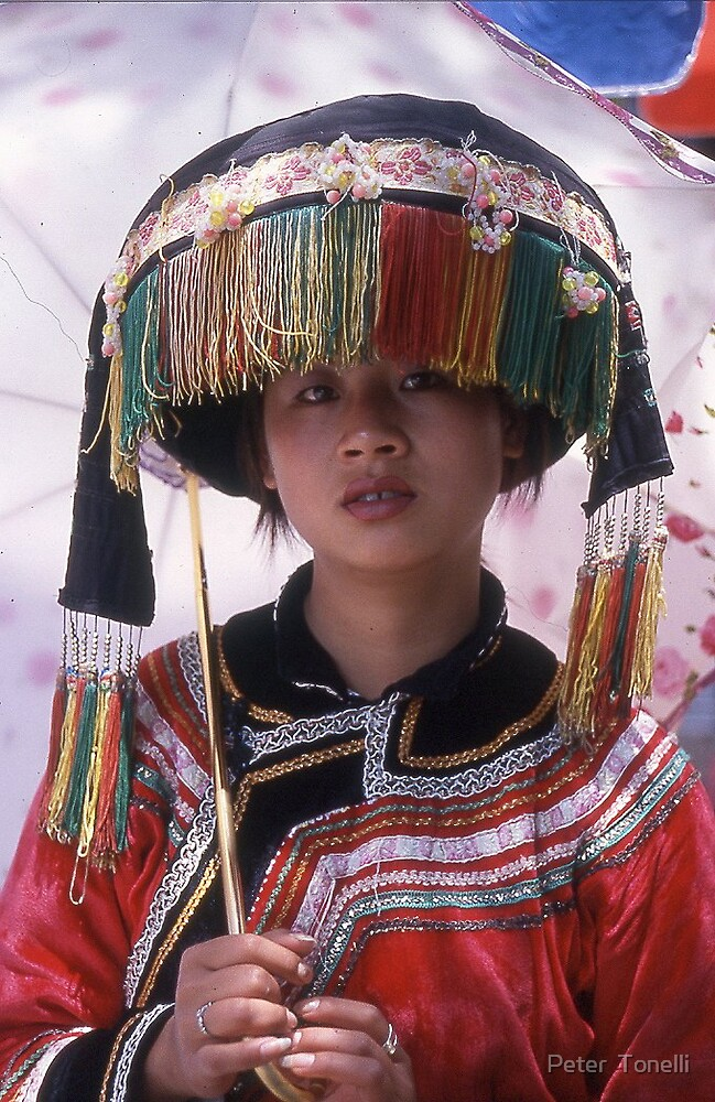 Yunnan girl 2 by Peter  Tonelli