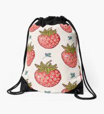 strawberry fields Drawstring Bag