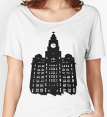 Royal Liver Building Women's Relaxed Fit T-Shirt