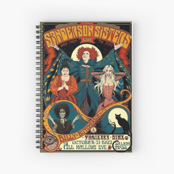 The Sanderson Sisters Spiral Notebook