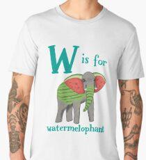 W is for Watermelophant Men's Premium T-Shirt