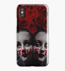 ANGELS - Girls with roses wings and graffiti iPhone Case
