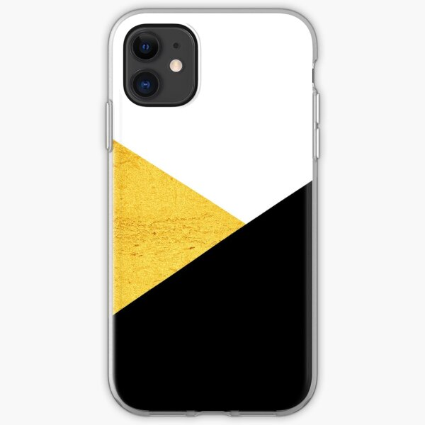 Gold & Black Geometry iPhone Soft Case
