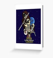 Pug Wars: The Force Pugwakens Greeting Card