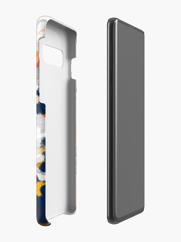 Alternate view of Stella - Abstract painting in modern fresh colors navy, orange, pink, cream, white, and gold Case & Skin for Samsung Galaxy