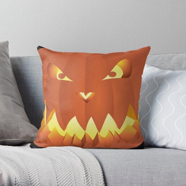 Halloweenkürbis... Throw Pillow