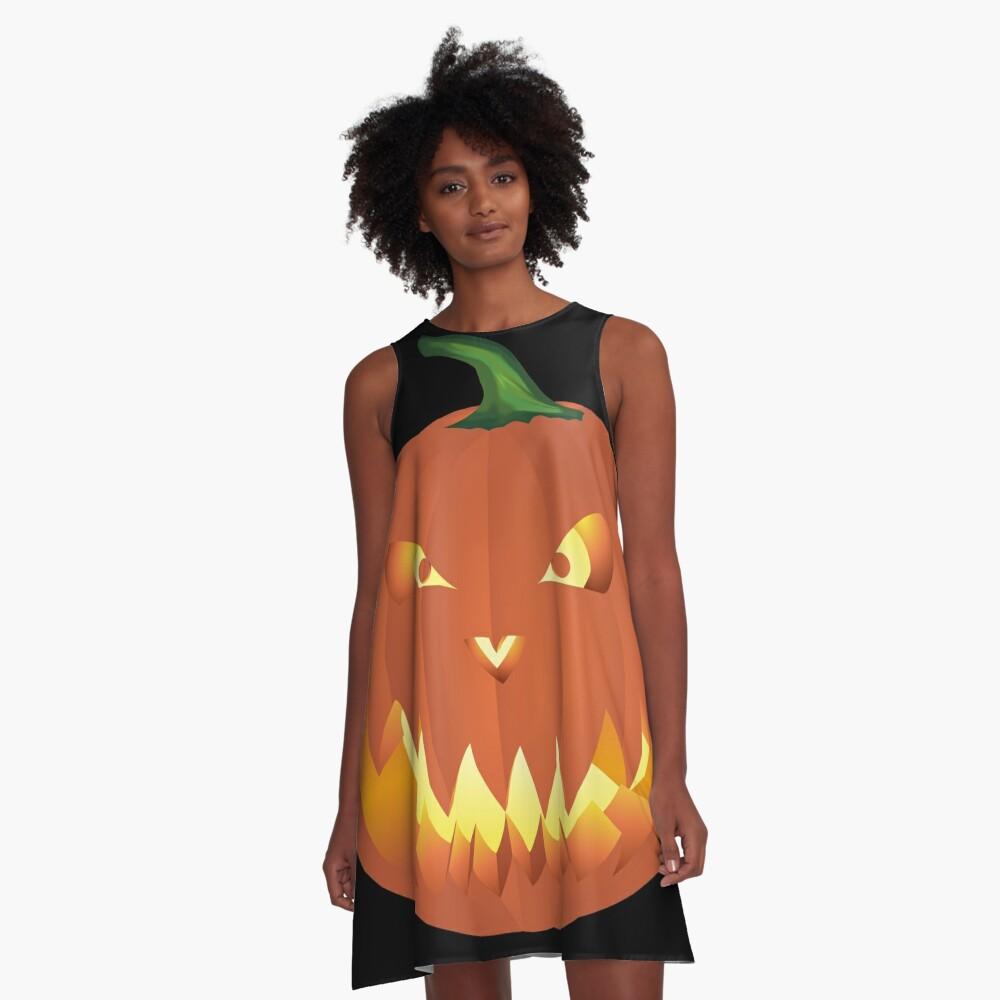 Halloweenkürbis... A-Linien Kleid