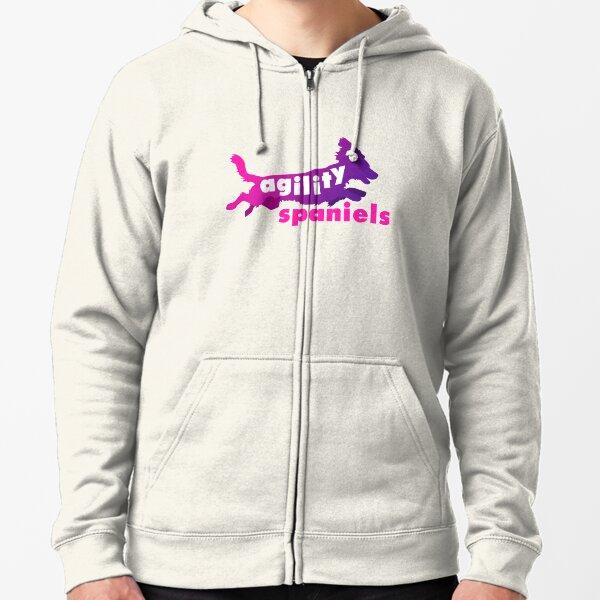 Agility Spaniels - Pink & Purple Zipped Hoodie