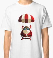 santa claus parachute Classic T-Shirt