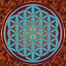 Flower of Life - Fire by Carrie Dennison