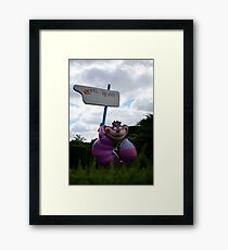 Cheshire Cat in Alice's Curious Labyrinth Framed Print