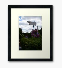 Cheshire Cat in Alice's Curious Labyrinth [Unfocused] Framed Print