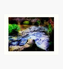 The Piddle in Puddletown. Art Print