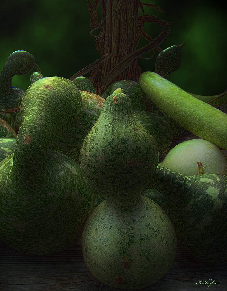 Green Gourds  by kelleybear