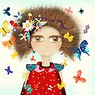Doll Butterfly Balloons Afro Hair Flowers by rupydetequila