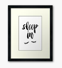Sleep In Framed Print