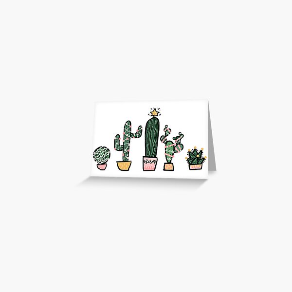 Holiday Succulents Greeting Card