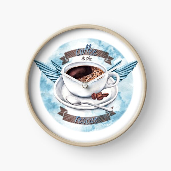 Coffee To The Rescue Clock