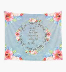 I am hers and she is mine. GOT Wedding Vows Wall Tapestry