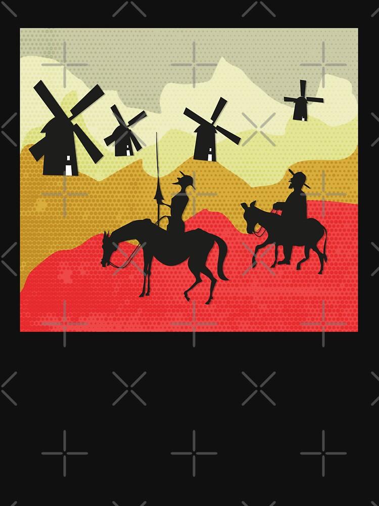 Tilting at windmills, Don Quixote by PrintablesP