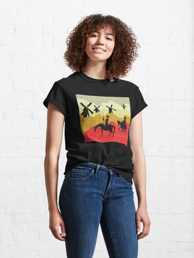 Alternate view of Tilting at windmills, Don Quixote Classic T-Shirt
