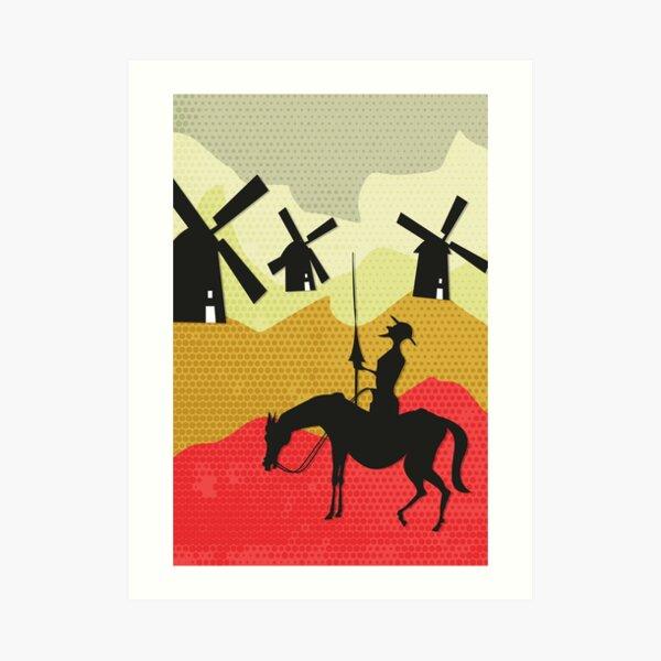 Tilting at windmills, Don Quixote Art Print