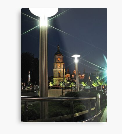 Saint Sophia Cathedral at Night Metal Print