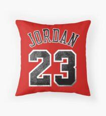 Jordan 23 Jersey Worn Throw Pillow
