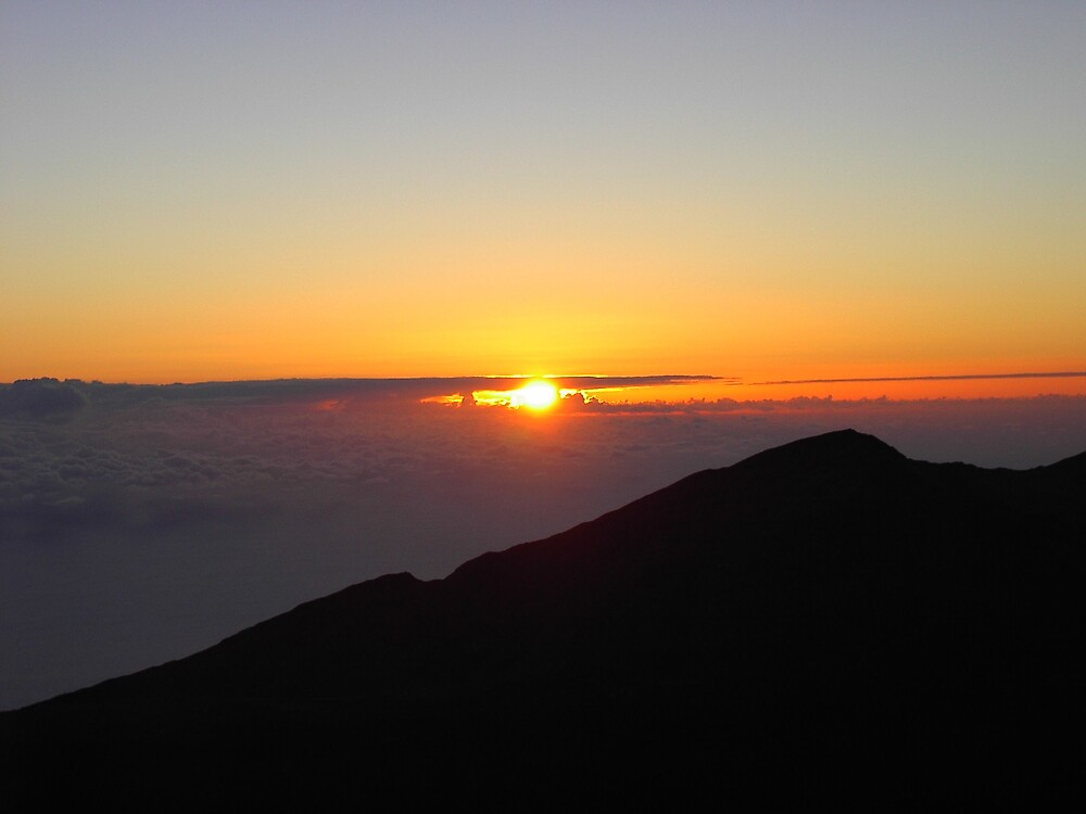 Sunrise on top of a Volcano by grimmac2000