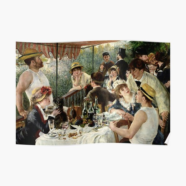 Vintage Pierre Renoir  Lunchen Boating Party 1881 Fine Art Poster