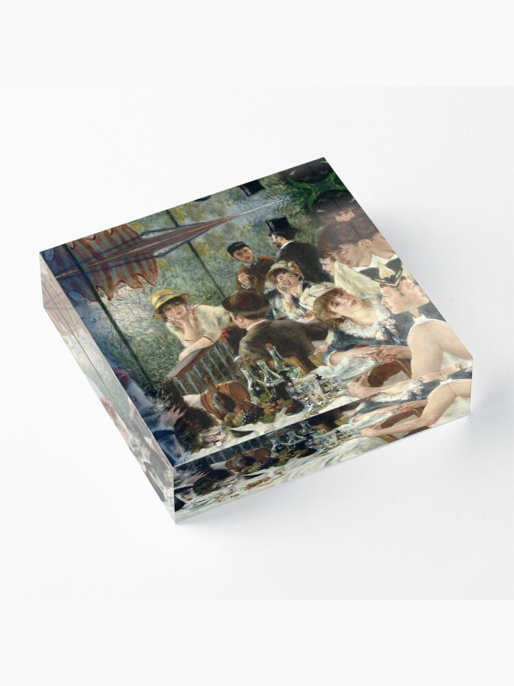 Alternate view of Vintage Pierre Renoir  Lunchen Boating Party 1881 Fine Art Acrylic Block